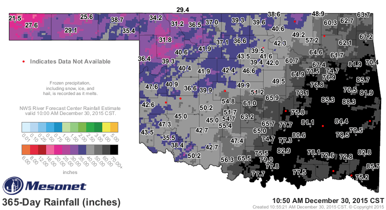 Oklahoma Drought Obliterated