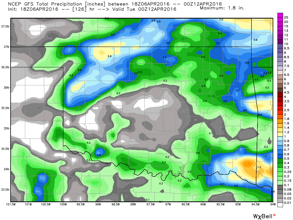 Rainfall totals Sunday/Monday