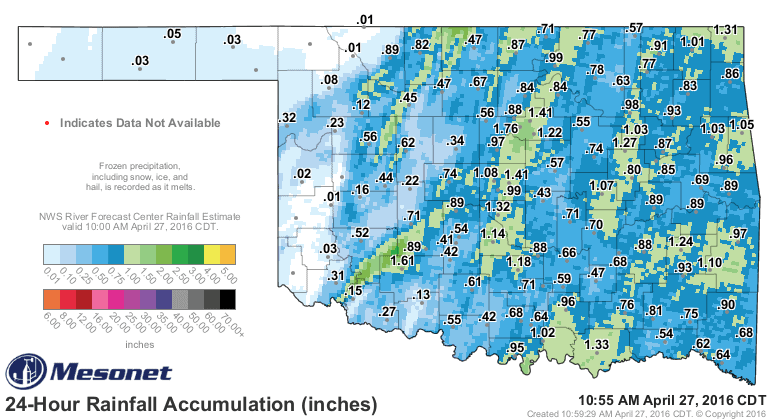 24 rainfall totals.