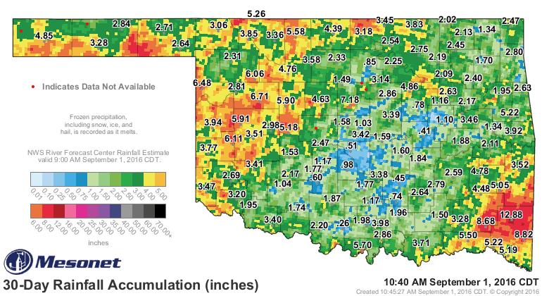 Final August Rainfall