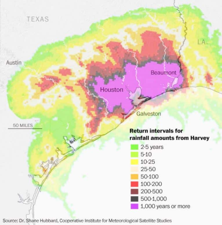 Hurricane Harvey – One for the Record Books