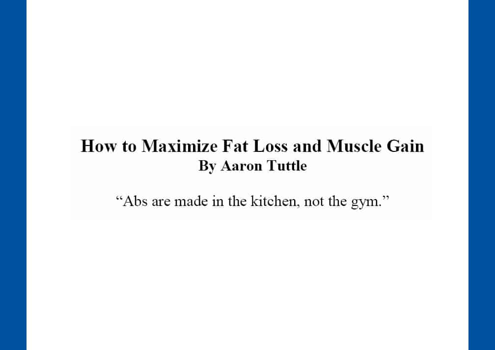 AT's Diet and Fat Loss Guide Now Available!