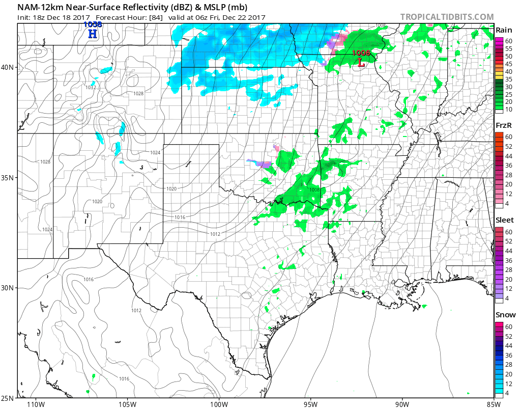 Models Coming Around: Freezing Drizzle/Rain by Friday AM, Brutal Cold Christmas Day