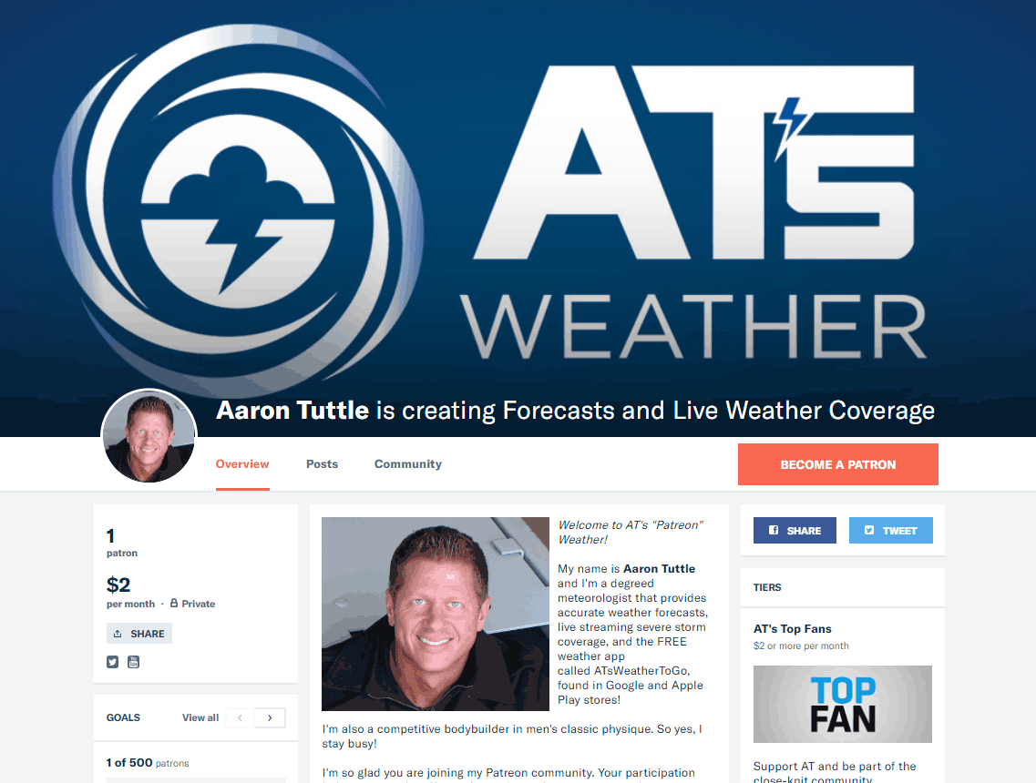AT's Weather is now on Patreon